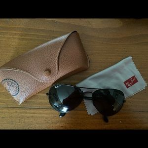 Ray-ban aviator polarized large metal all black